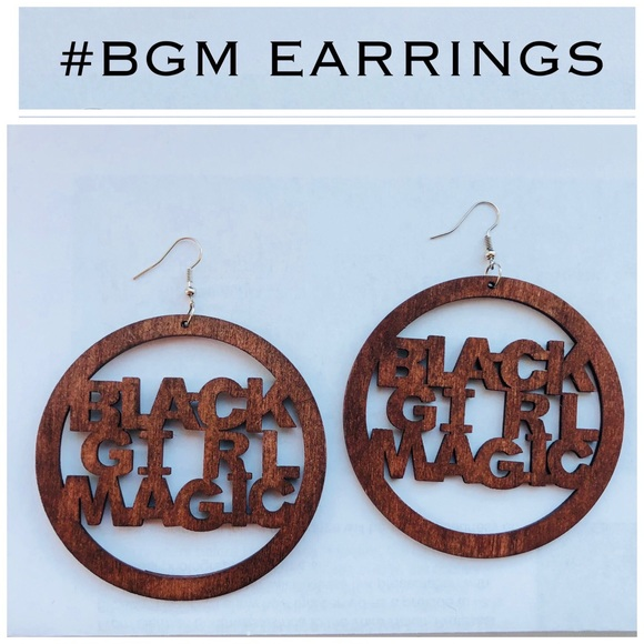 Jewelry - #BGM Wood Laser Carved Earrings in Mahogany
